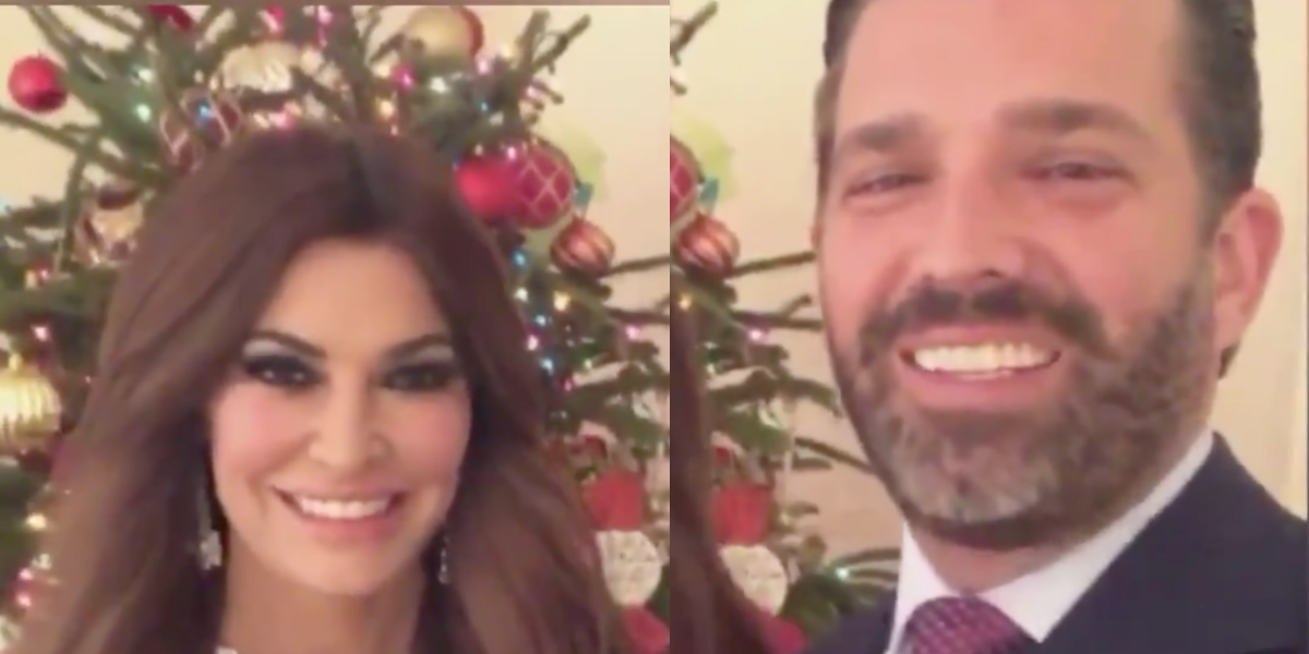 Don Jr. Blasted After Awkwardly Mocking His Girlfriend To Her Face In Their Cringey Christmas Video