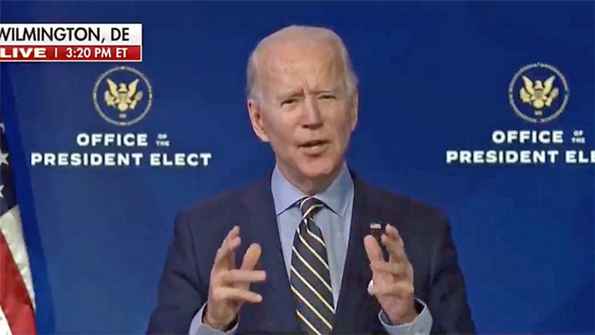 Joe Biden calls on Trump to end 'siege' on Capitol 'under unprecedented assault': 'It borders on sedition'