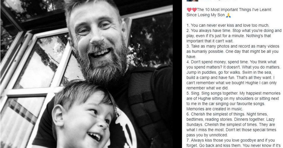 This Dad Lost His Three-Year-Old Son, and His Message Is Truly Inspiring