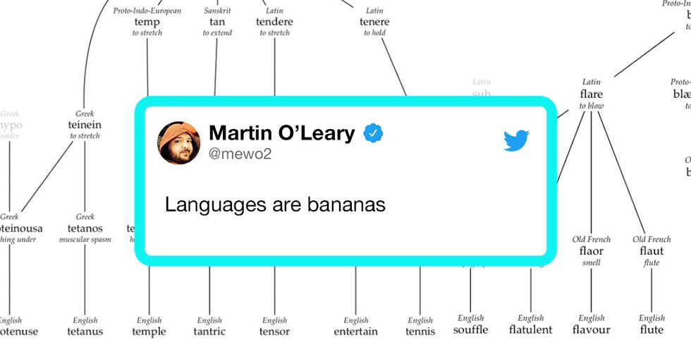 Twitter Is Shook by an Amazing Series of Charts That Show Where Words Originated