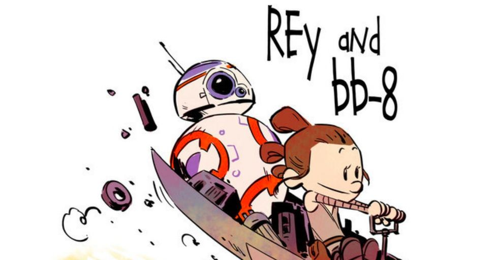Like 'Star Wars'? Then You'll LOVE 'The Force Awakens' Re-imagined as 'Calvin and Hobbes'