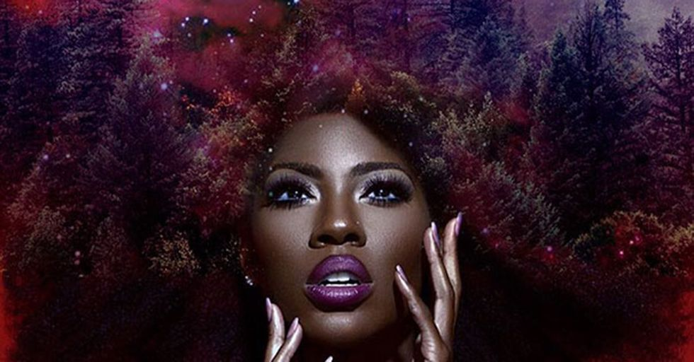 This Artist Turned Womens' Afros Into Breathtaking Galaxies To Celebrate Their Natural Hair