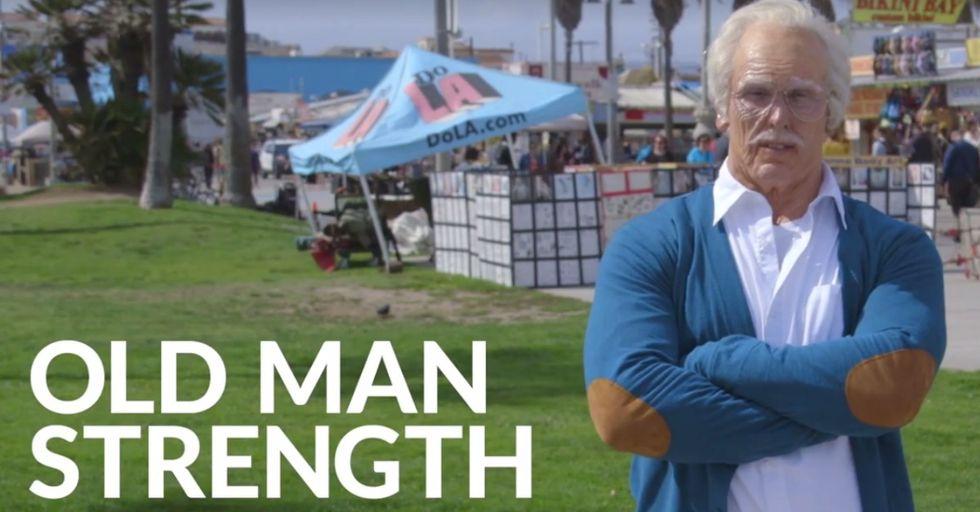 This 'Grandpa' Put the Muscle Beach Bros To SHAME