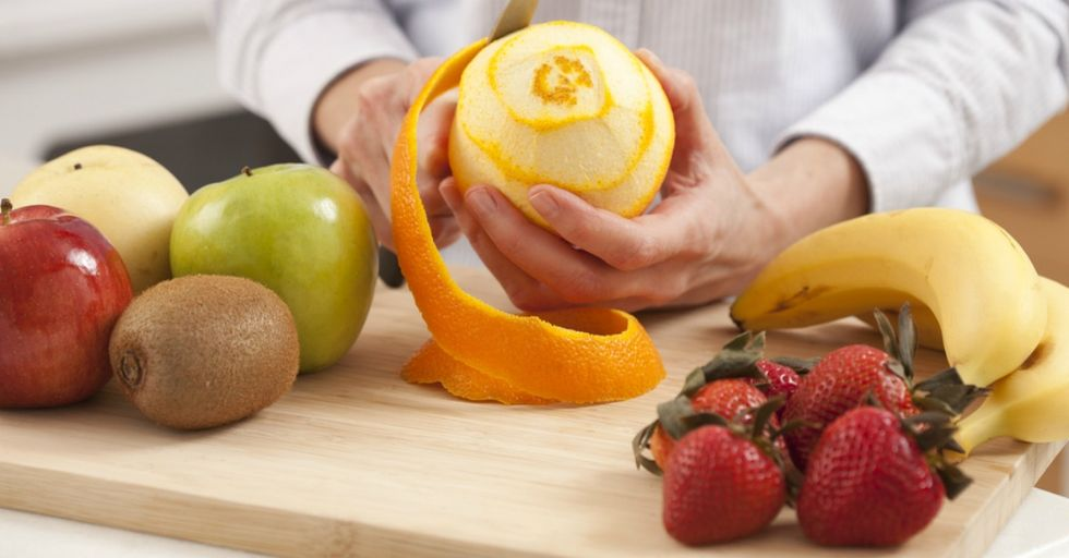 Guess What? You've Been Peeling Fruit Wrong Your Whole Freaking Life