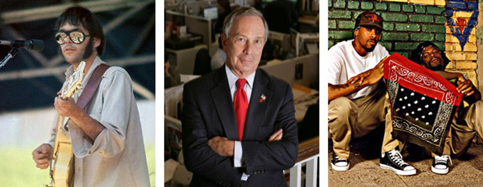 Eight Items or Less: Go Green with Neil Young, Mike Bloomberg and Dead Prez