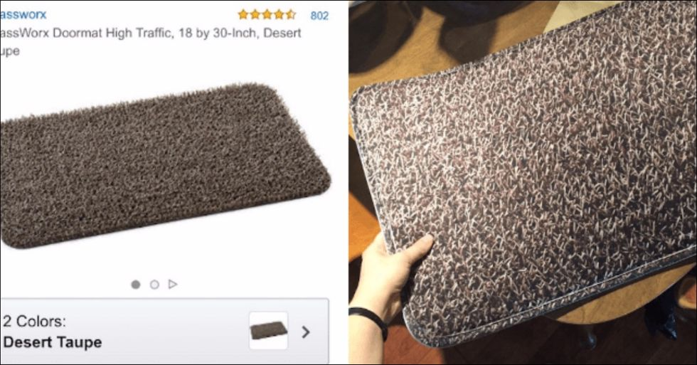 This Woman Was Left Floored After She Bought a Doormat Online And Received THIS Instead