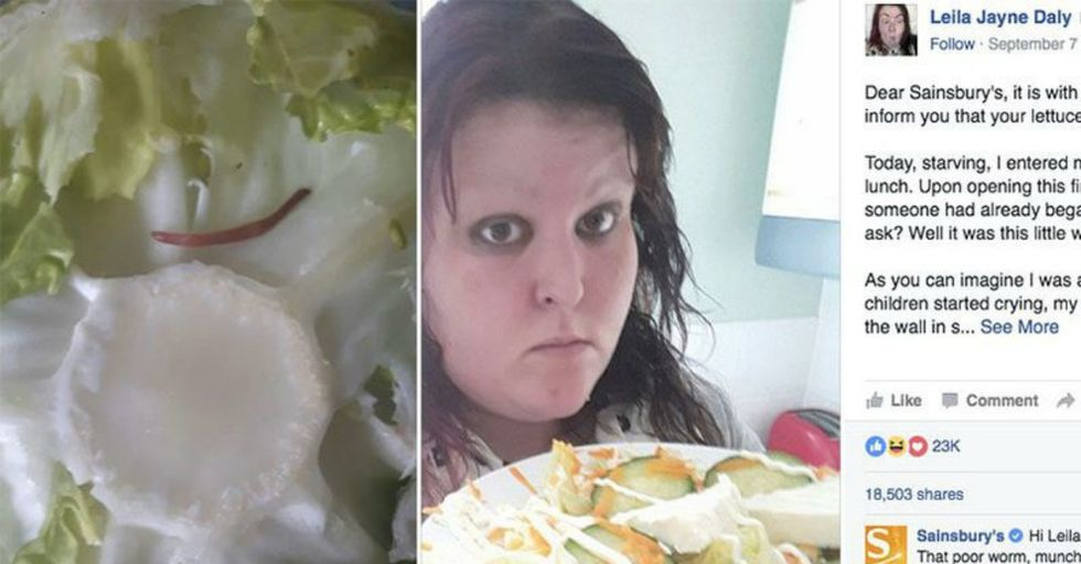 A Woman's Complained About a Worm In Her Lettuce And Got A Priceless Response