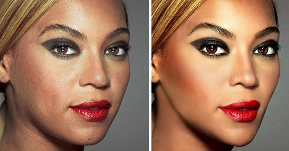 Photos That Show the Before and After Effects of Photoshop On Hollywood's Biggest Stars