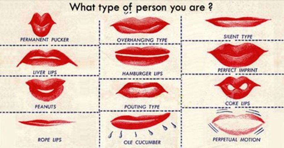 Personality thick lips Get the