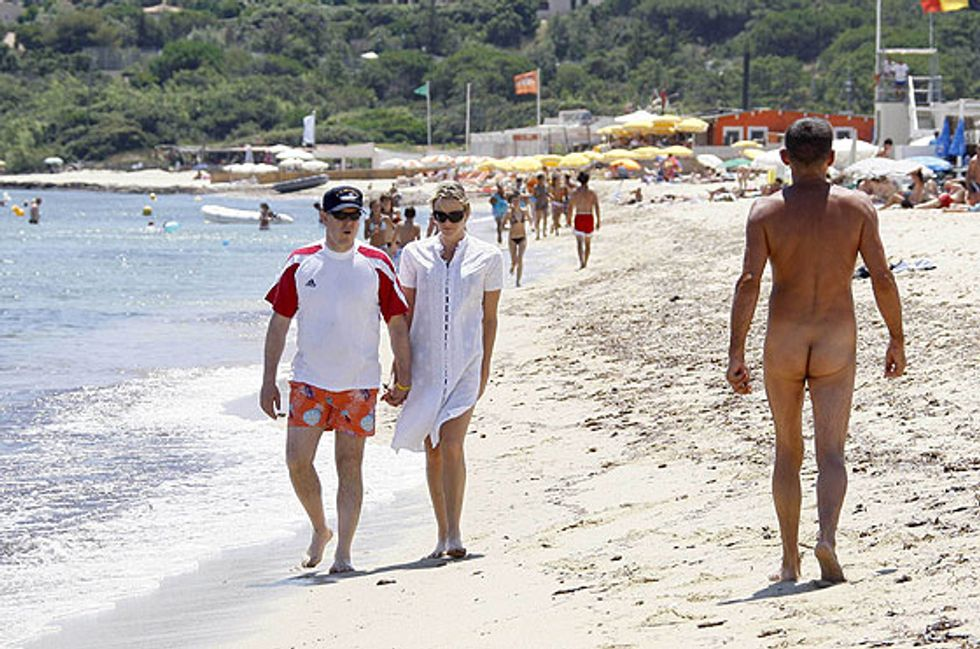 Albert of Monaco's Trip to a Nude Beach