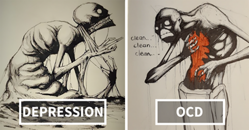This Artist Gives Haunting Illustrations To 18 Different Mental Illnesses