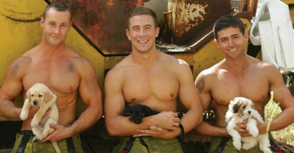 When Firefighters Combine With Puppies, You Get the Hottest Charity Calendar Ever