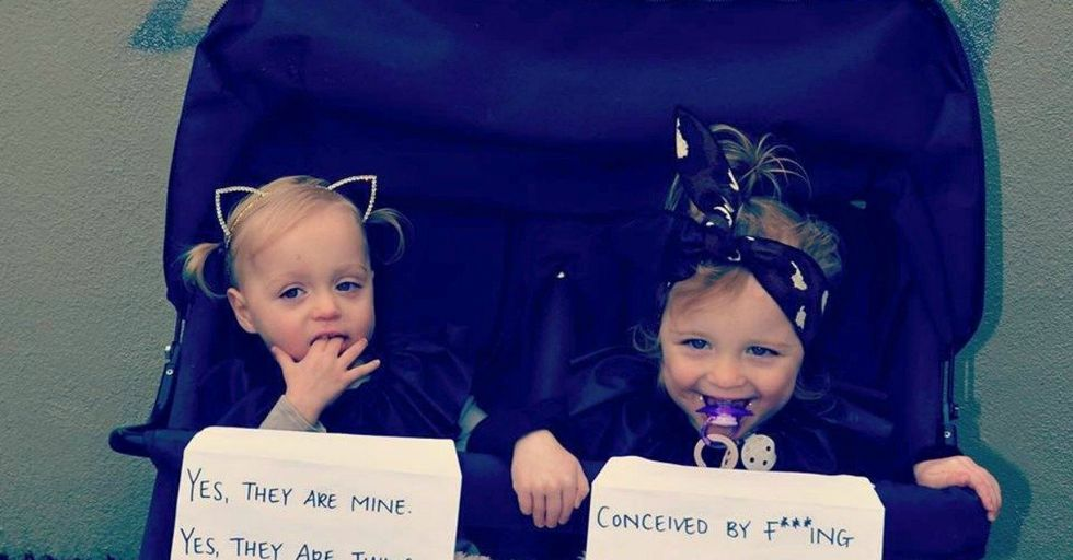 Mom Has a Creative Solution To Put an End To Questions About Her Twins