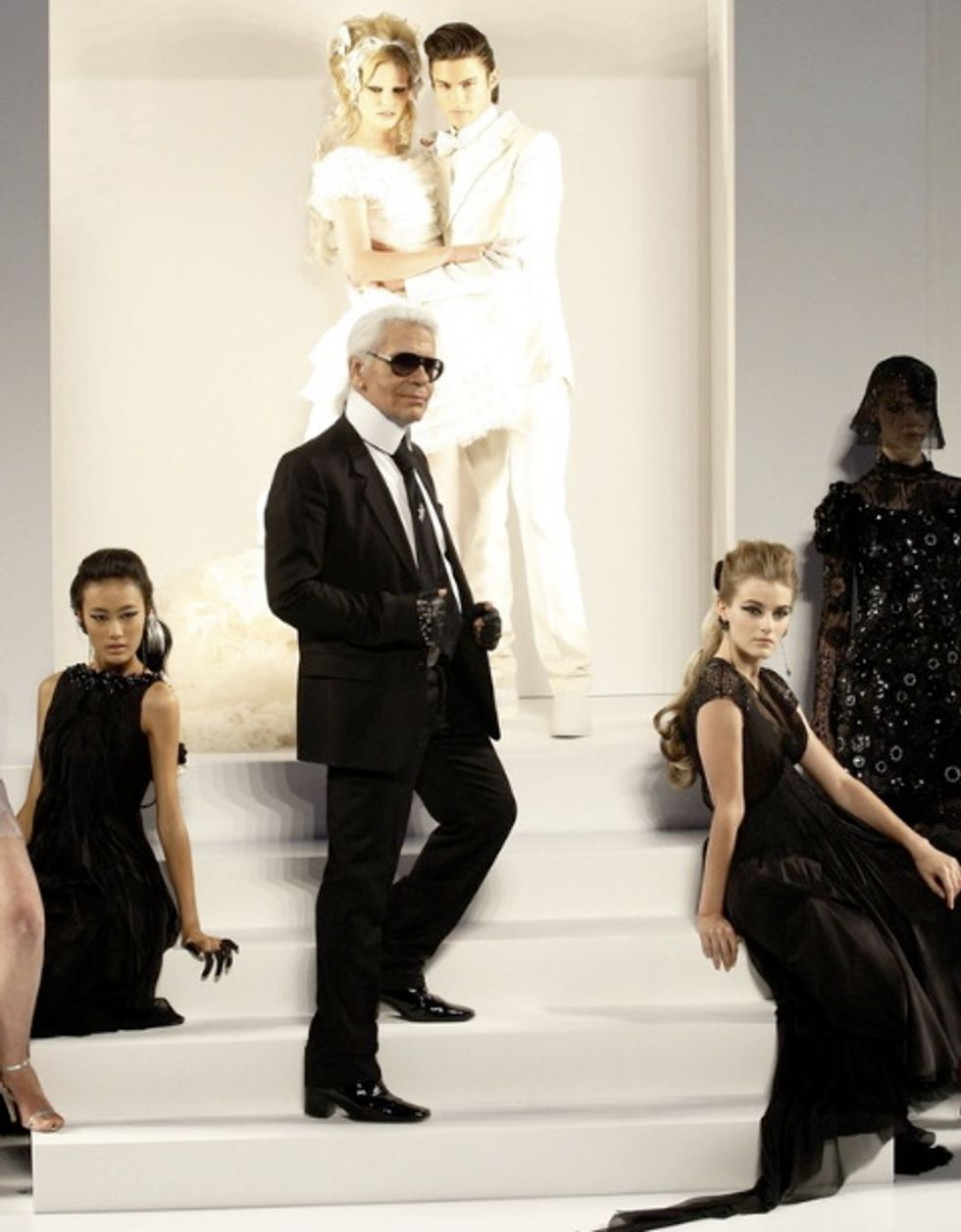 Fake Karl Returns to Discuss His Fall 2009 Haute Couture Collection