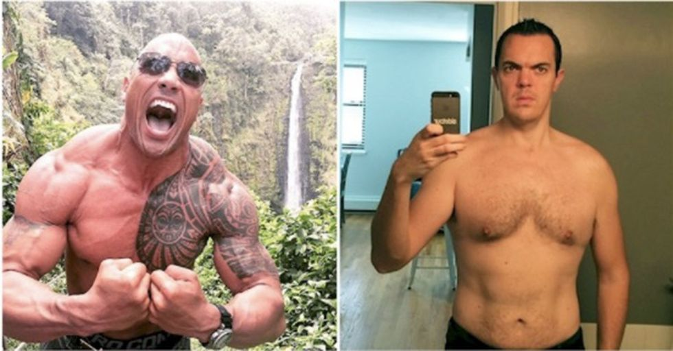 This 'Regular' Guy Spent 30 Days Eating and Training Just Like The Rock