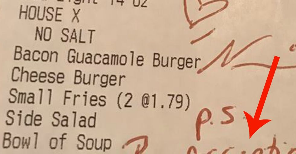 When a Homophobic Family Berated Their Gay Nephew In a Restaurant, They Got THIS Note On Their Receipt