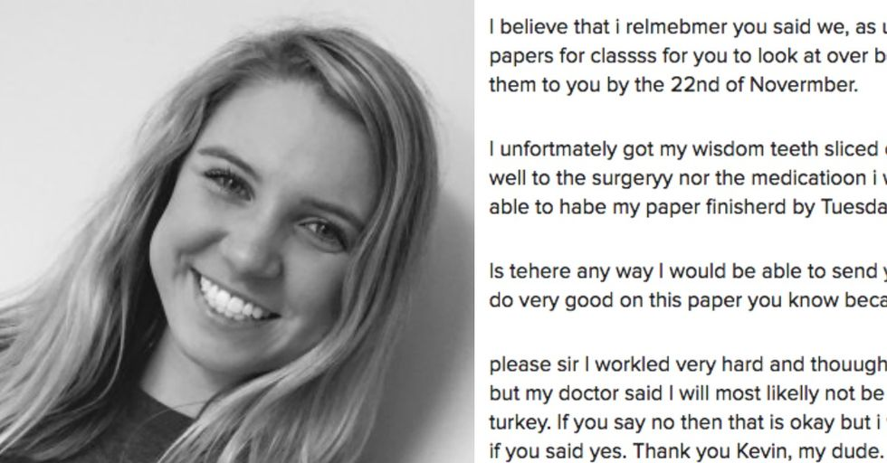 A Teen Sent a Hilarious Email To Her Teacher While Drugged After Wisdom Teeth Surgery