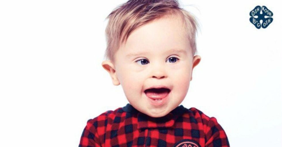 Adorable Young Boy With Down Syndrome Is the New Face of OshKosh B'gosh Holiday Ads