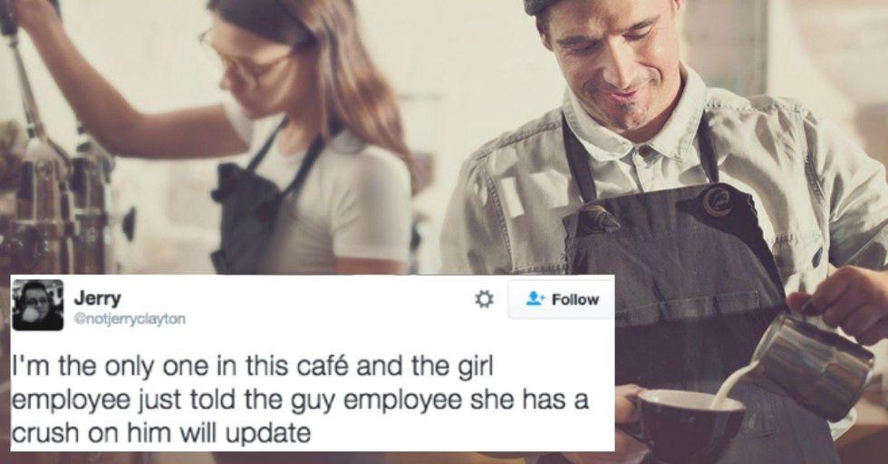 Customer Live Tweets Awkward Baristas Adorably Falling In Love