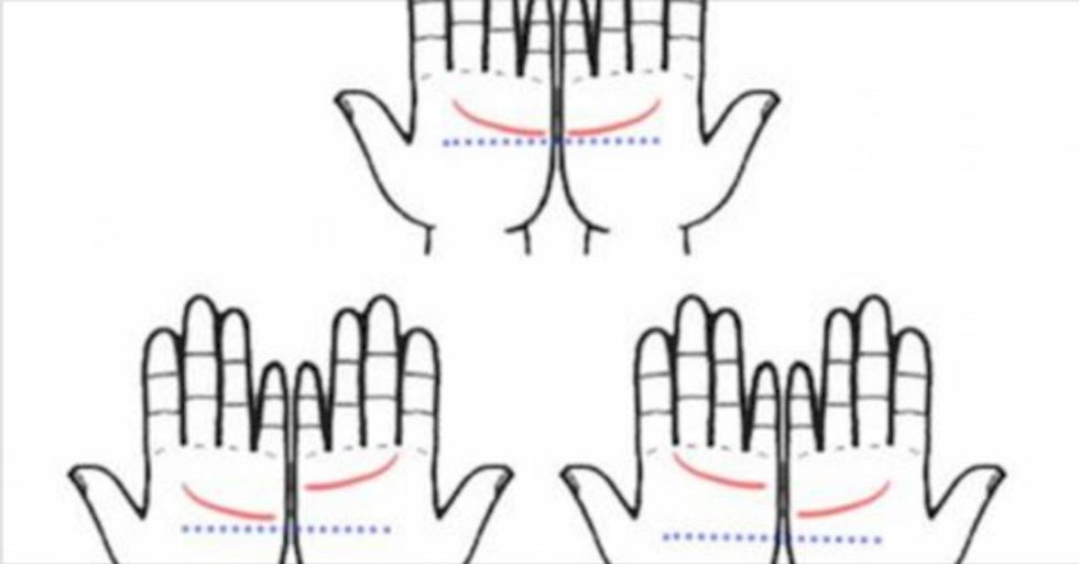 Do These Two Lines Match Up On Your Hands? Here's What It Means