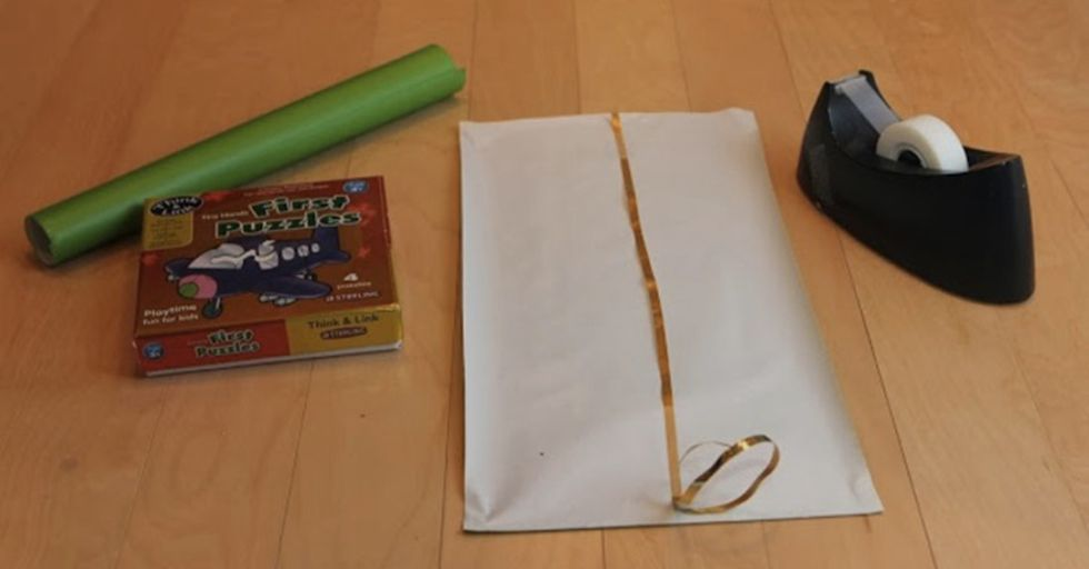 Before You Wrap a Gift, Line the Inside of the Paper With Ribbon...Here's Why