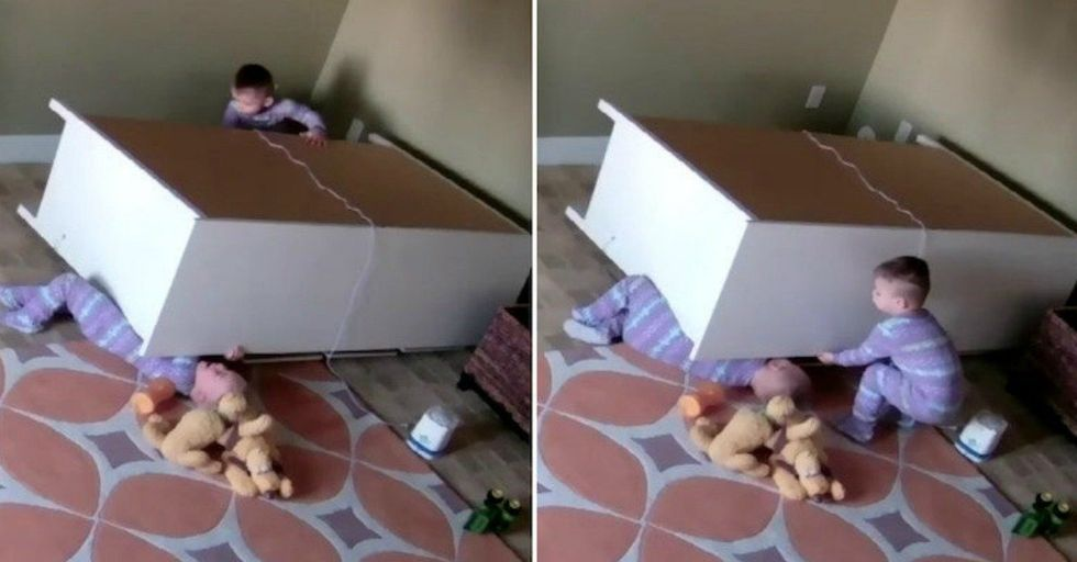 Hero Toddler Saves Twin Brother From Being Crushed By Falling Dresser