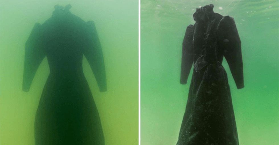 This Is What Happens When You Leave a Dress In the Dead Sea