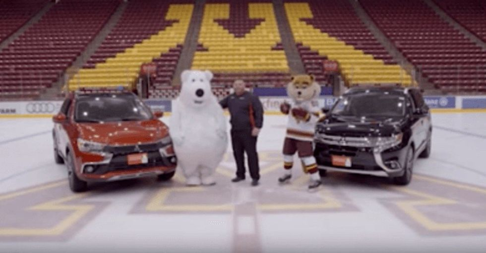 Bear Mascot Can't Keep It Together In This Hilarious Car Commercial