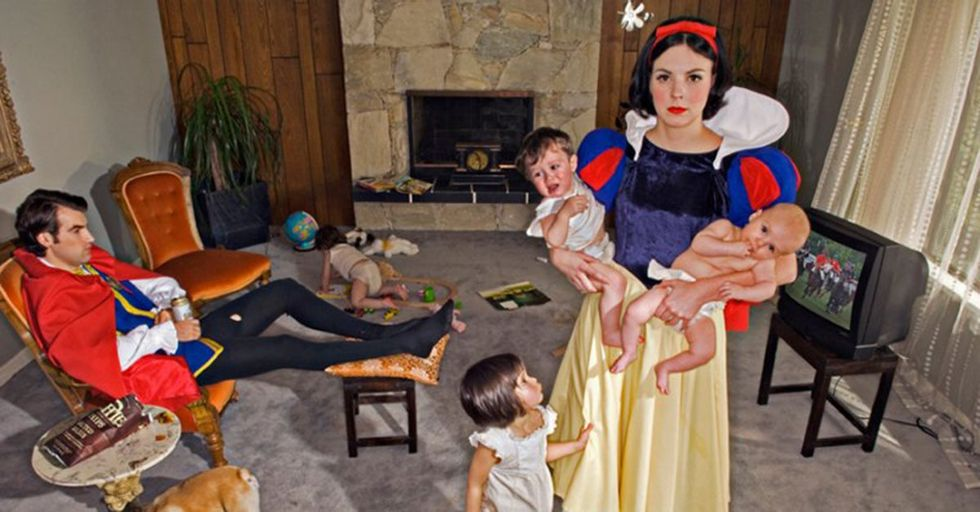 Artist Places Disney Princesses in Real-Life Scenarios That are Not 'Happily Ever After'