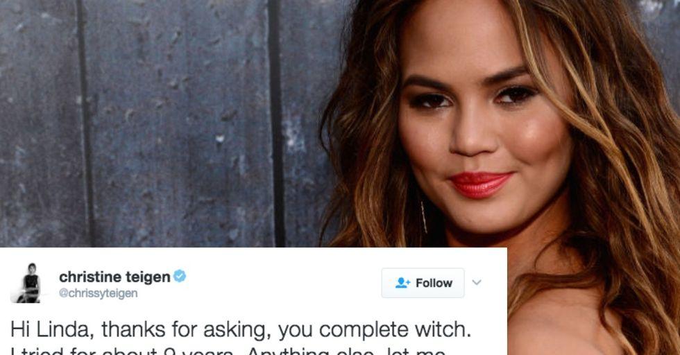 Chrissy Teigen OWNED a Twitter Troll Who Shamed Her For Having IVF