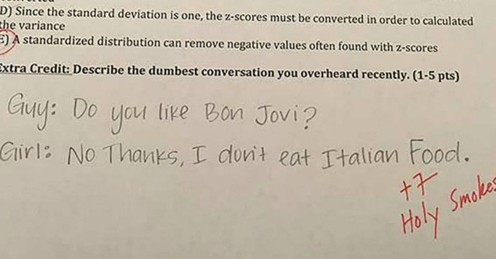 World's Best Professor Gives His Students Hilarious Extra Credit Questions