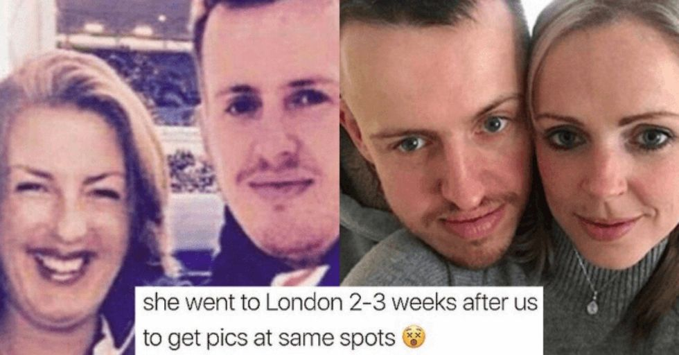 This Creepy Woman Photoshopped Herself Into a Stranger's Photos For YEARS