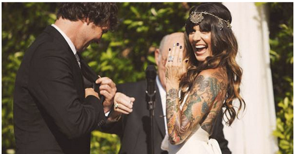17 Tattooed Brides Who Prove That Ink and Wedding Gowns Can Be a Timeless Combination