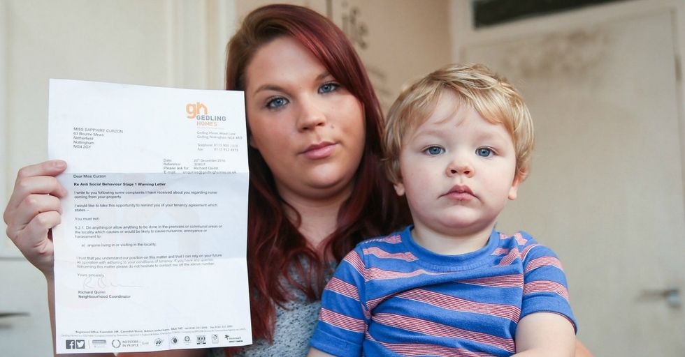 British Single Mom Might Be Evicted for Nothing More Than Having a Happy, Normal Toddler