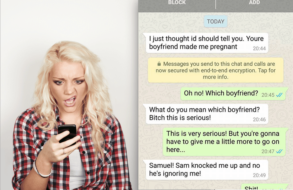 Pregnant Side Chick Texts the Wrong Person and Things Take a Hilarious Turn