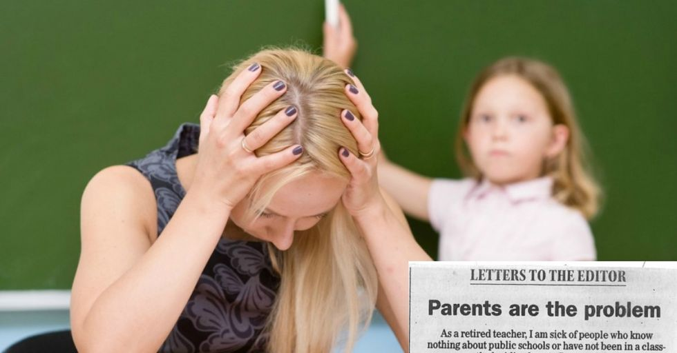 Teacher Retires in Blaze of Glory with a Blunt Letter About Bad Parents