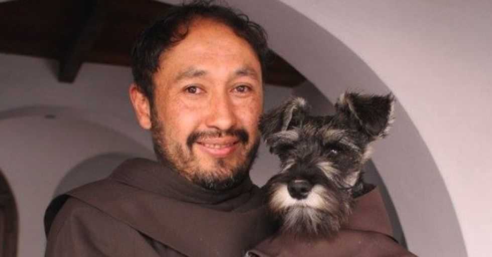 This Stray Dog, Adopted By a Monastery, Is the Cutest, Furriest Monk You'll Ever See