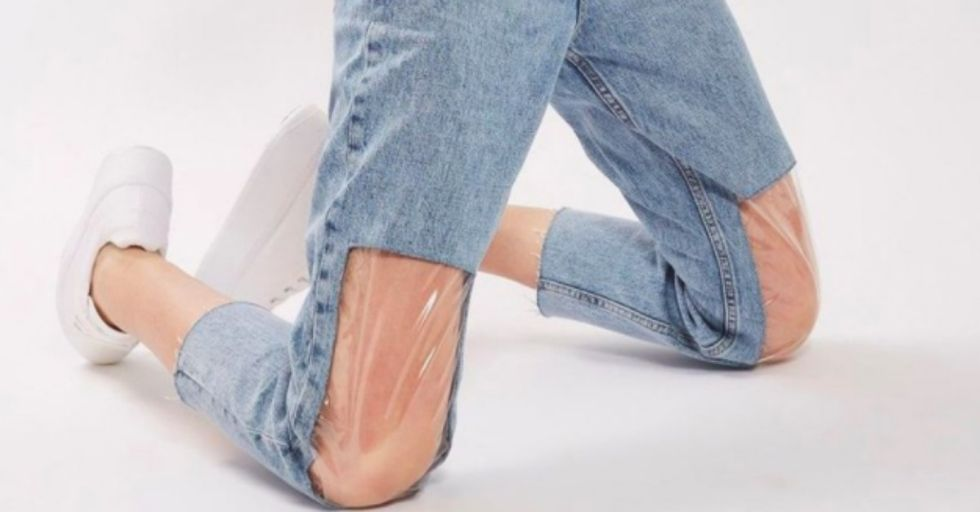 Apparently 'Clear Knee Mom Jeans' Are a Thing and People Are Really Confused