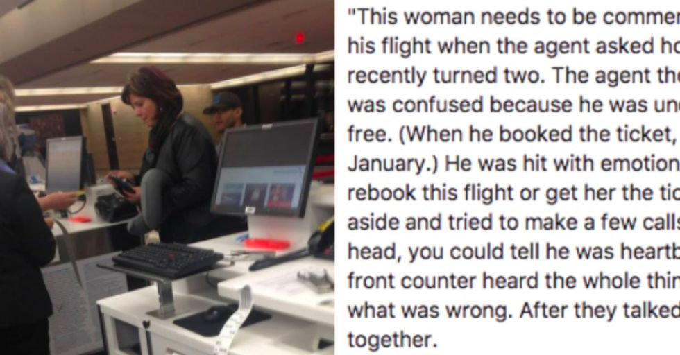 This Heroic Woman Saved the Day With a Generous Act of Kindness at the Airport