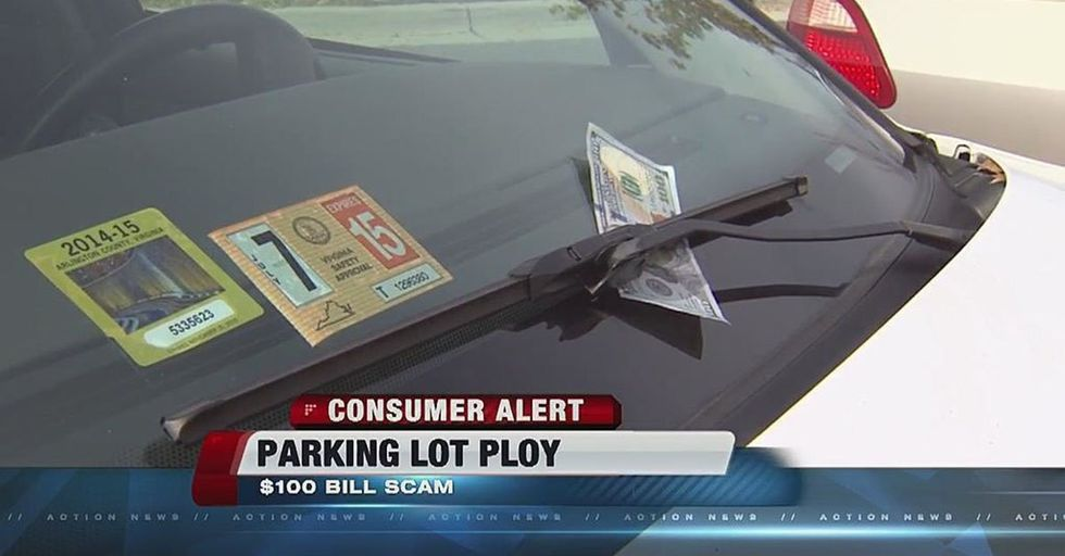 Don't Be Caught Falling for the $100 Dollar Bill in Your Windshield Scam