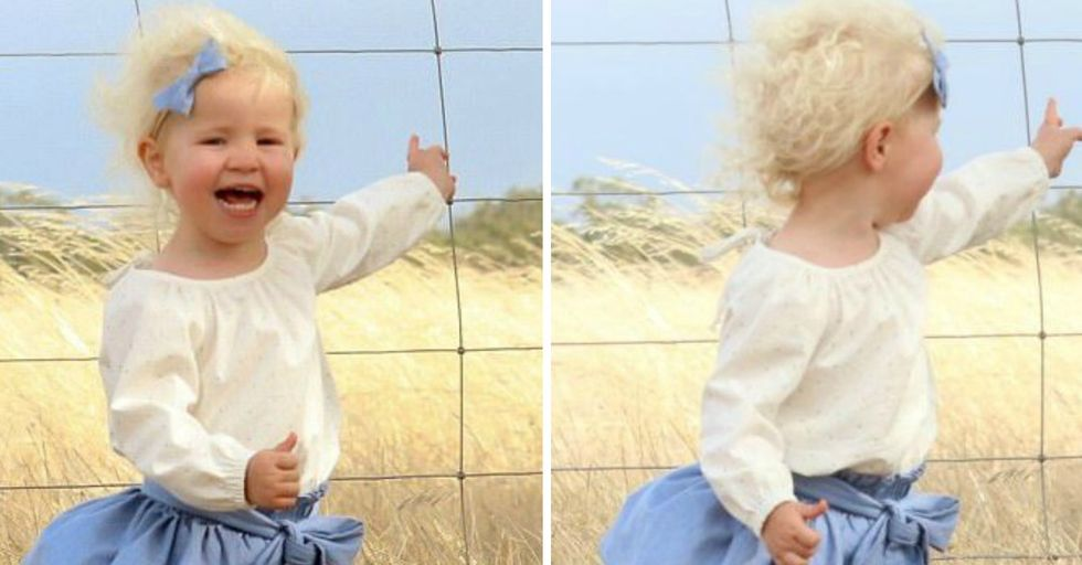 Mom Snaps Toddler's Photo Unaware That Grave Danger Was Just Inches Away