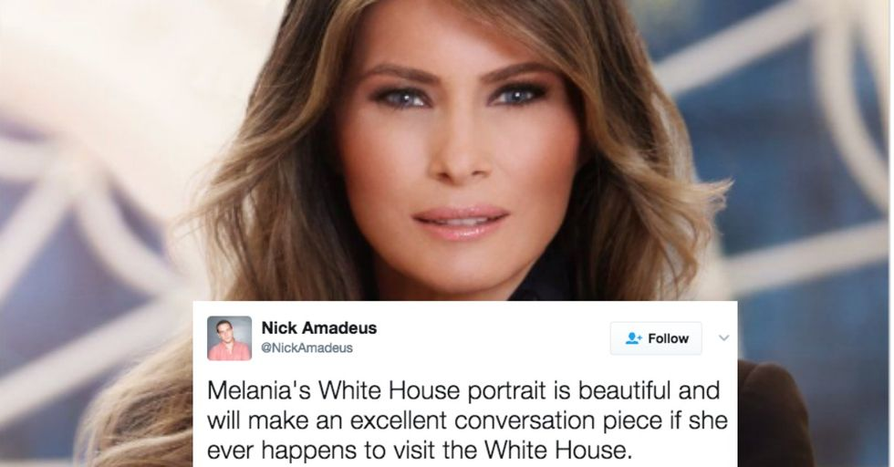 Twitter Makes Melania a Meme with Her First Official White House Portrait