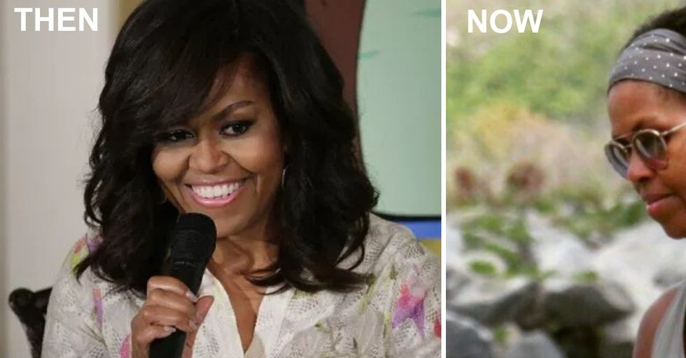 Michelle Obama Is Rocking Natural Hair and the Internet Is Going Crazy