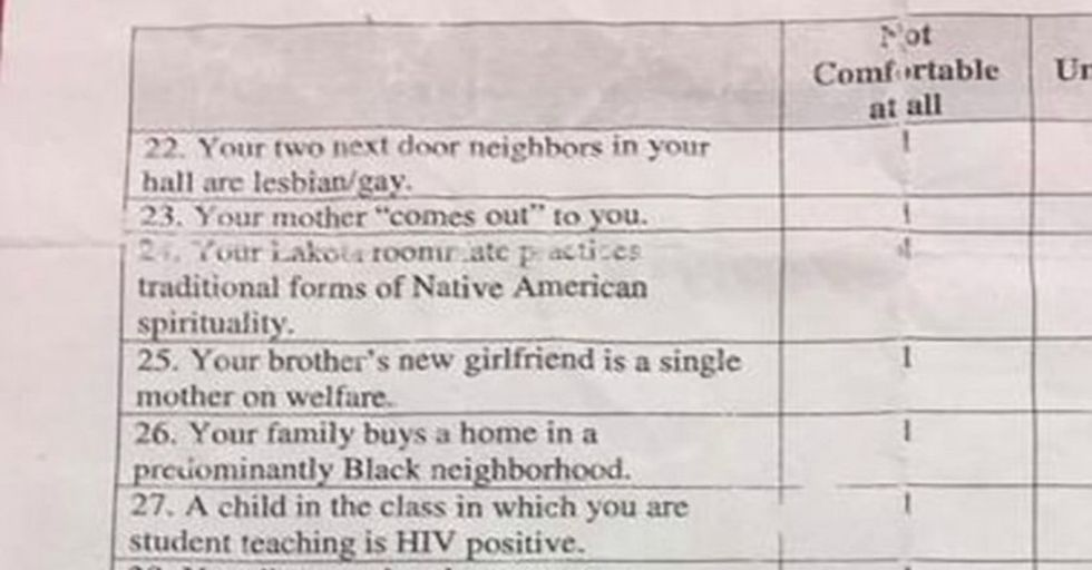 This Teacher Was Fired Over Homework That Asked Inappropriate Questions