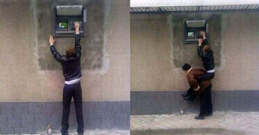 40 Photos That Show the Strange and Hilarious Way ATMs Are Used Around the World