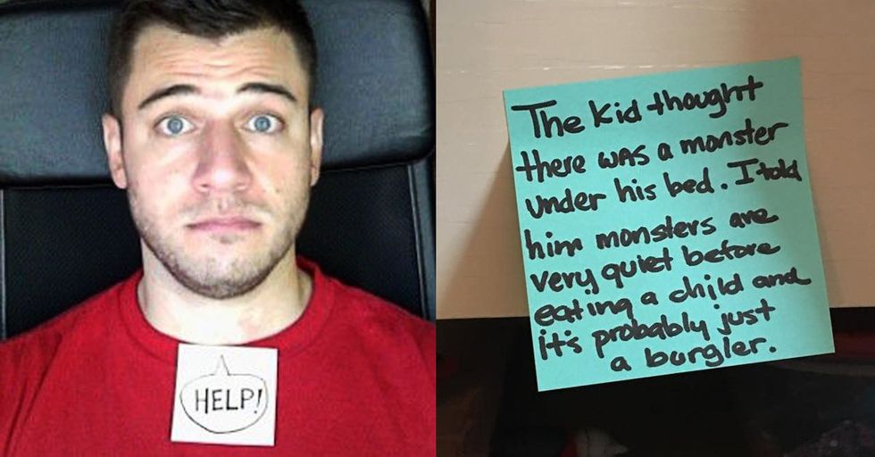 This Stay-At-Home Dad's Hilarious Post-It Notes Have the Whole Internet Laughing