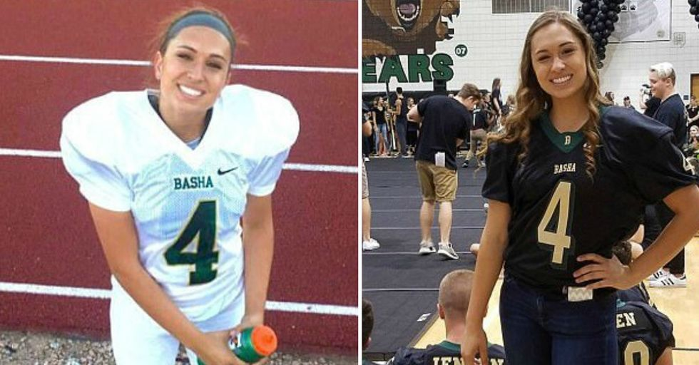 This High School Student Is the First Female To Receive a Football Scholarship