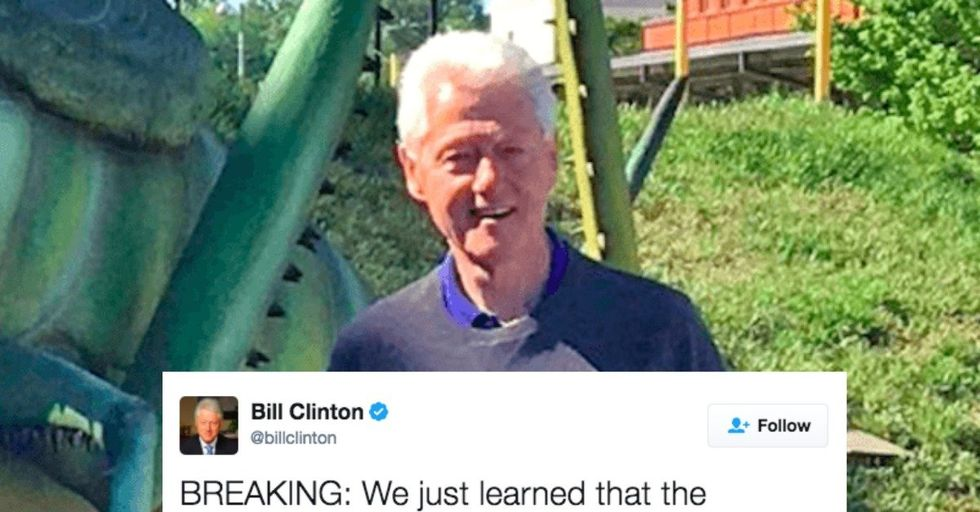 Bill Clinton 'Bugged' Donald Trump With the Ultimate Dad Joke