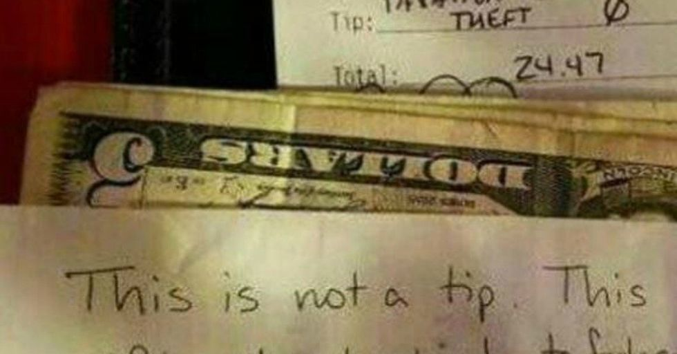 What This Customer Gave Instead of a Tip Is Causing a LOT of Debate