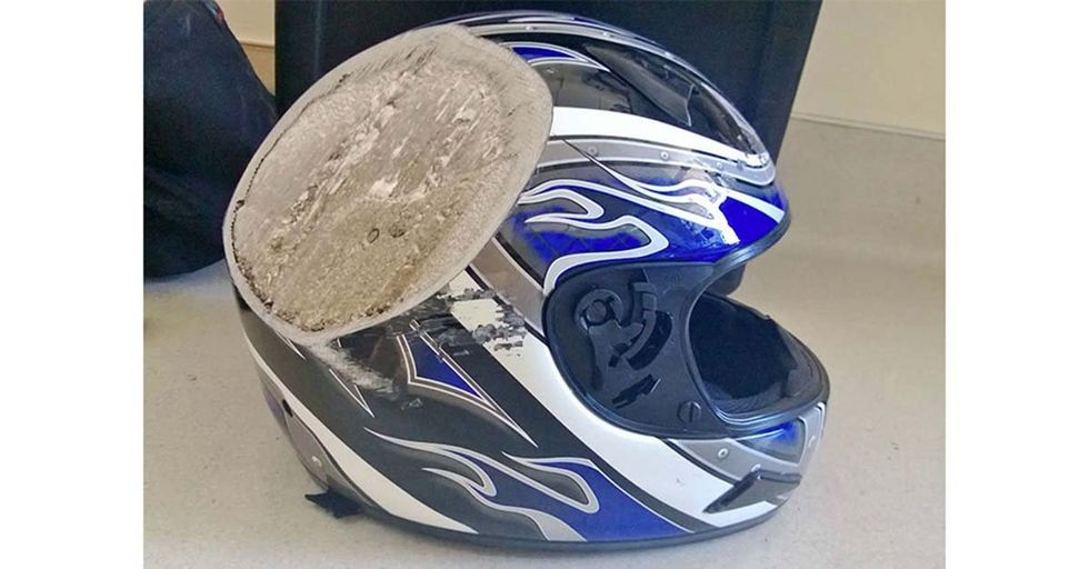 28 Shocking Photos of Post-Crash Helmets That Are Powerful Reminders To ALWAYS Wear One